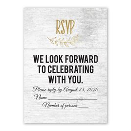 Rustic and Refined - Gold - Foil Response Card