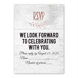 Rustic and Refined - Rose Gold - Foil Response Card