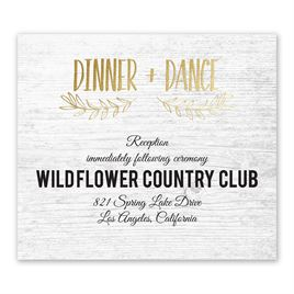 Rustic and Refined - Gold - Foil Information Card