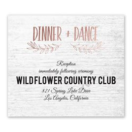 Rustic and Refined - Rose Gold - Foil Information Card