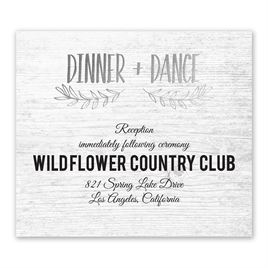 Rustic and Refined - Silver - Foil Information Card