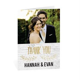 Rustic and Refined - Gold - Foil Thank You Card