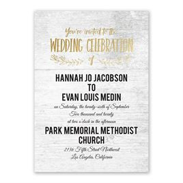 Rustic and Refined - Gold - Foil Invitation