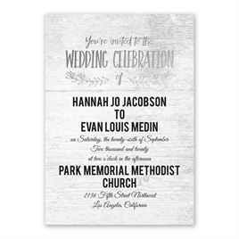 Rustic and Refined - Silver - Foil Invitation