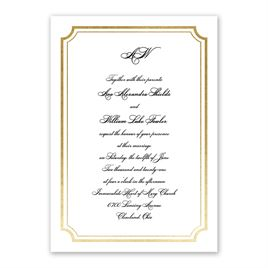 Tradition Reigns - Gold - Foil Invitation