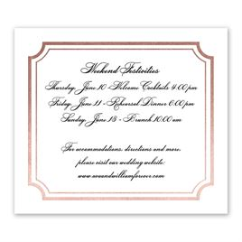 Tradition Reigns - Rose Gold - Foil Information Card
