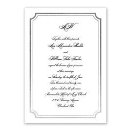 Tradition Reigns - Silver - Foil Invitation