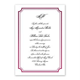 Tradition Reigns - Wine - Foil Invitation