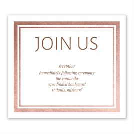 Wedding Reception Cards Modern Shine Foil Information Card