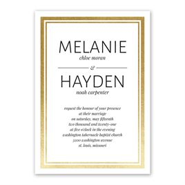 Modern Shine - Gold - Foil Invitation