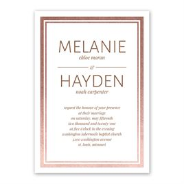 Modern Shine - Rose Gold - Foil Invitation