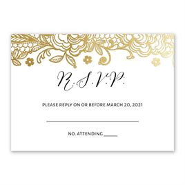 Glamorous Lace - Gold - Foil Response Card