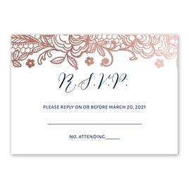 Wedding response cards invitations by dawn wedding response cards glamorous lace foil response card stopboris Images