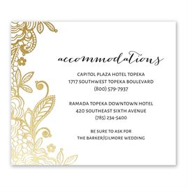 Glamorous Lace - Gold - Foil Information Card