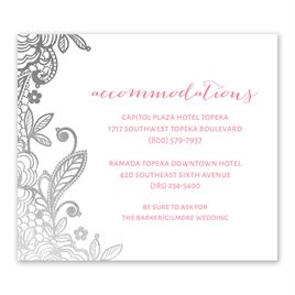 Glamorous Lace - Silver - Foil Information Card
