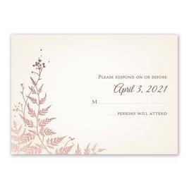 Woodland Sparkle - Rose Gold - Foil Response Card