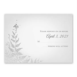 Woodland Sparkle - Silver - Foil Response Card
