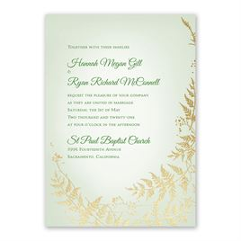 Woodland Sparkle Foil Invitation