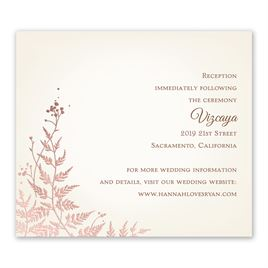 Woodland Sparkle - Rose Gold - Foil Information Card