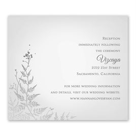 Woodland Sparkle - Silver - Foil Information Card