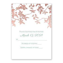 Woodland Branches - Rose Gold - Foil Response Card