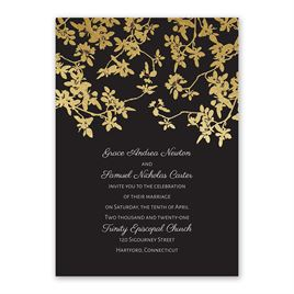 Woodland Branches - Gold - Foil Invitation