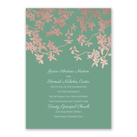 Woodland Branches - Rose Gold - Foil Invitation