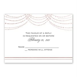 Twinkling Lights - Rose Gold - Foil Response Card