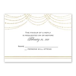 Wedding response cards invitations by dawn wedding response cards twinkling lights foil response card stopboris Choice Image