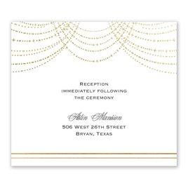 Twinkling Lights - Gold - Foil Information Card
