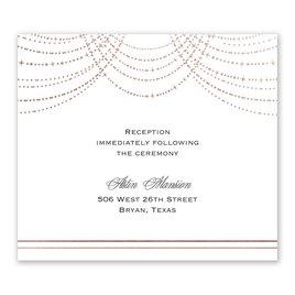 Twinkling Lights - Rose Gold - Foil Information Card