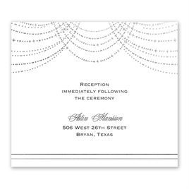 Twinkling Lights - Silver - Foil Information Card