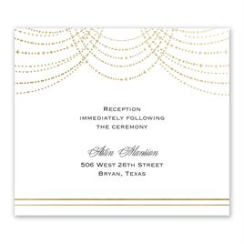 Wedding Reception Invitation Wording.Twinkling Lights Foil Information Card