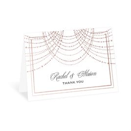 Twinkling Lights - Rose Gold - Foil Thank You Card