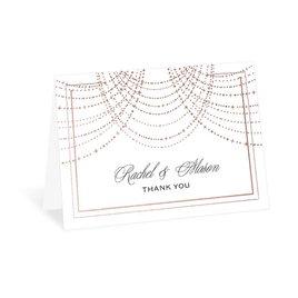 Twinkling Lights - Rose Gold - Foil Thank You Card