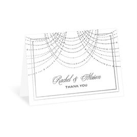 Twinkling Lights - Silver - Foil Thank You Card