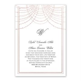 Twinkling Lights - Rose Gold - Foil Invitation