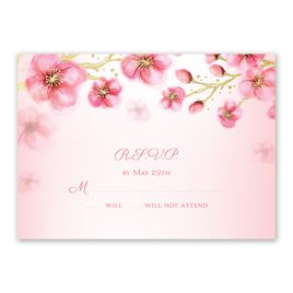 Cherry Blossoms - Gold - Foil Response Card