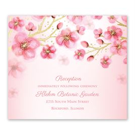 Cherry Blossoms - Gold - Foil Information Card