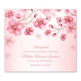 Cherry Blossoms - Rose Gold - Foil Information Card