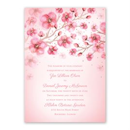 Cherry Blossoms - Rose Gold - Foil Invitation