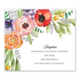 Wildflower Burst - Silver - Foil Information Card
