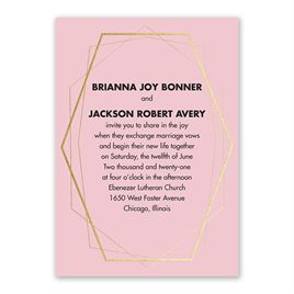Mid-Century Metallic - Gold - Foil Invitation