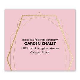 Mid-Century Metallic - Gold - Foil Information Card