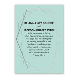 Mid-Century Metallic - Silver - Foil Invitation