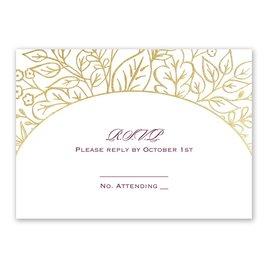 Foliage Frame - Gold - Foil Response Card