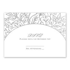 Foliage Frame - Silver - Foil Response Card