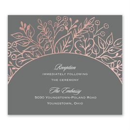 Foliage Frame - Rose Gold - Foil Information Card
