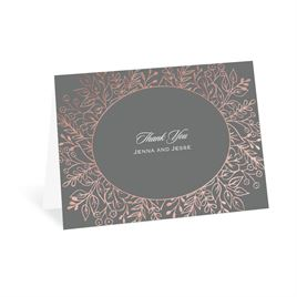 Foliage Frame - Rose Gold - Foil Thank You Card