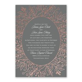 Foliage Frame - Rose Gold - Foil Invitation